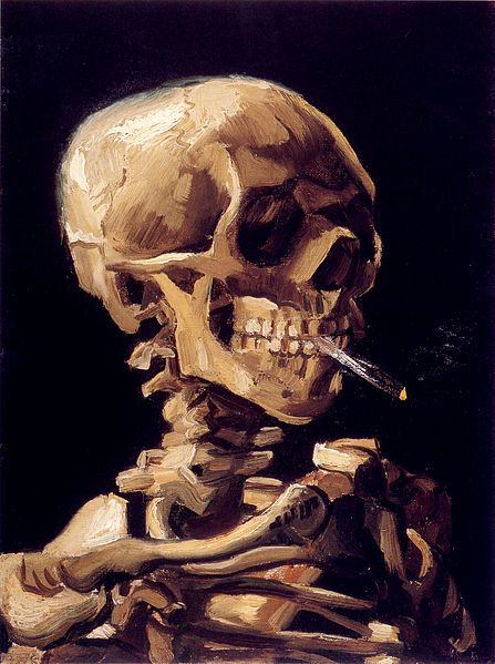 Skull with a Burning Cigarette by Vincent Van Gogh