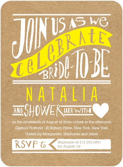 crafty bridal shower invite