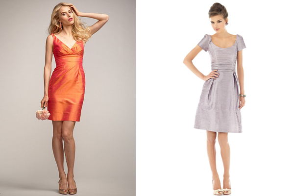 dupioni watters and alfred sung bridesmaid dresses