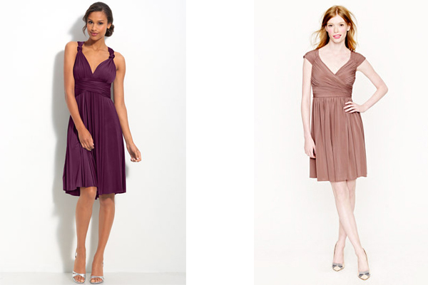 jersey two birds and jcrew bridesmaid dresses