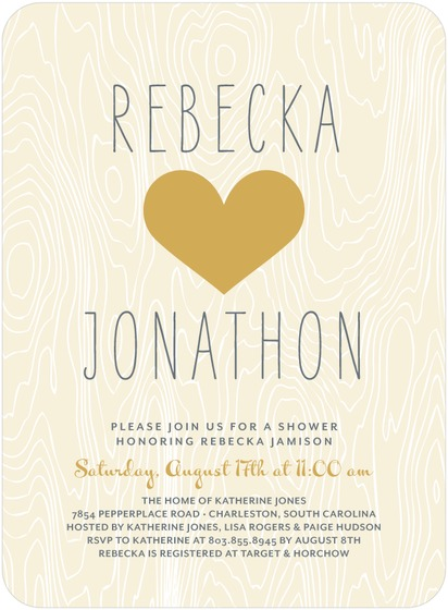 rustic tree invite