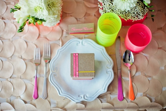 002 neon table setting