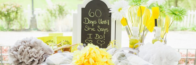 a sunshine yellow honey bridal shower