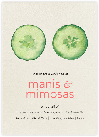 Manis and Mimosas Bachelorette Invite from Paperless Post