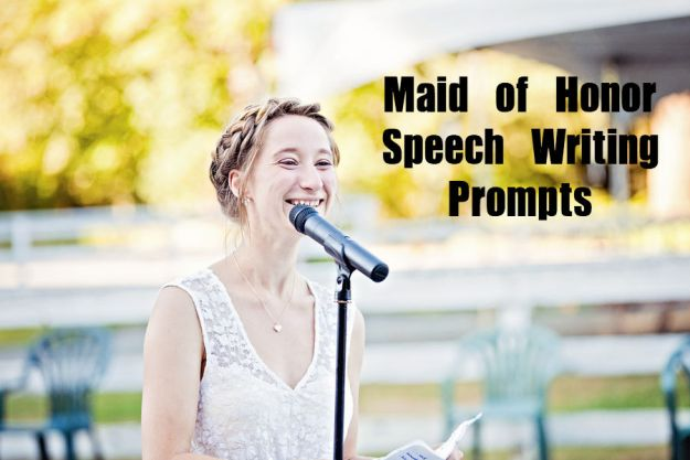 Tips for writing your maid of honor speech, with lots of writing prompts to get the ideas flowing