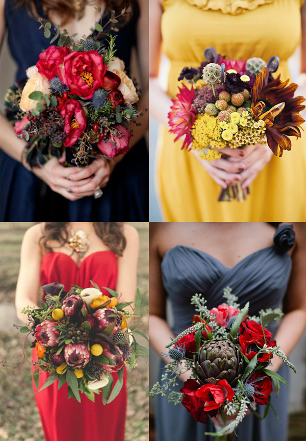 How to create a fall bridesmaid bouquet