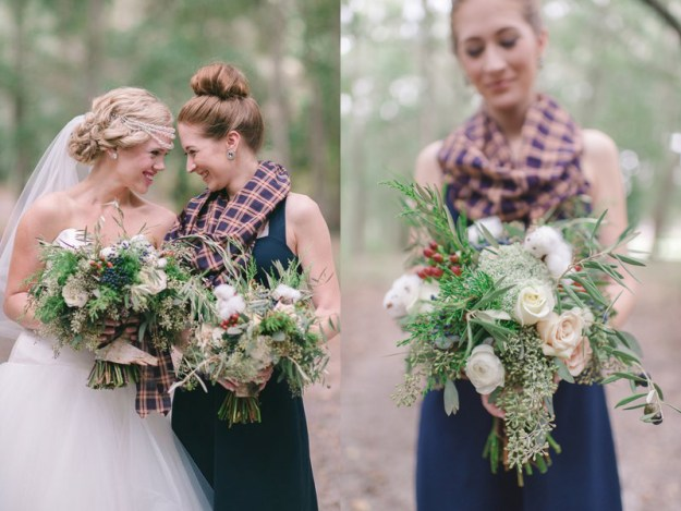 14 Perfect Winter Bridesmaid Looks: Scarves