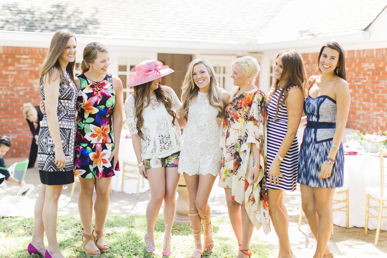 A Fresh Floral Backyard Tea Party Shower