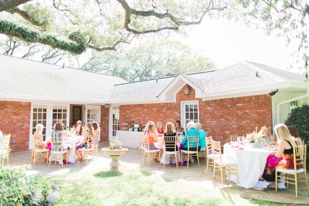 A Fresh Floral Backyard Tea Party Shower | Ultimate Bridesmaid | Michelle Able Photography