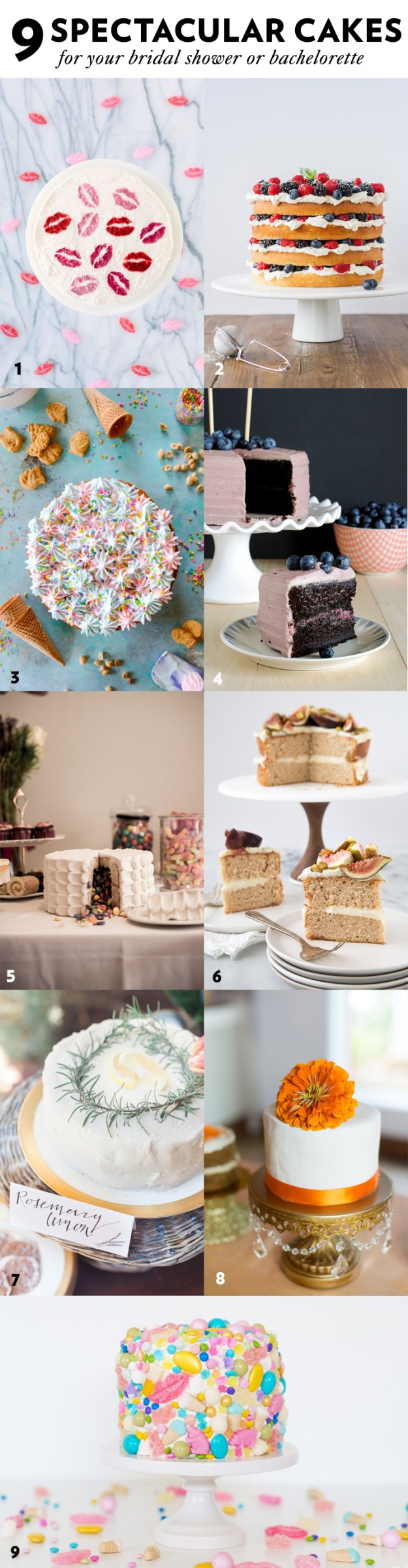 9 Spectacular Cakes For Your Bridal Shower & Bachelorette Party