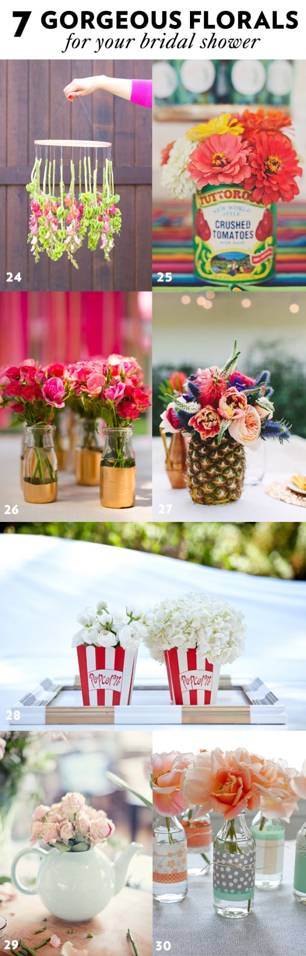 7 Gorgeous Floral Styling Ideas for your Bridal Shower + 43 More Simple and Stylish DIY Bridal Shower & Bachelorette Decoration Ideas from Ultimate Bridesmaid