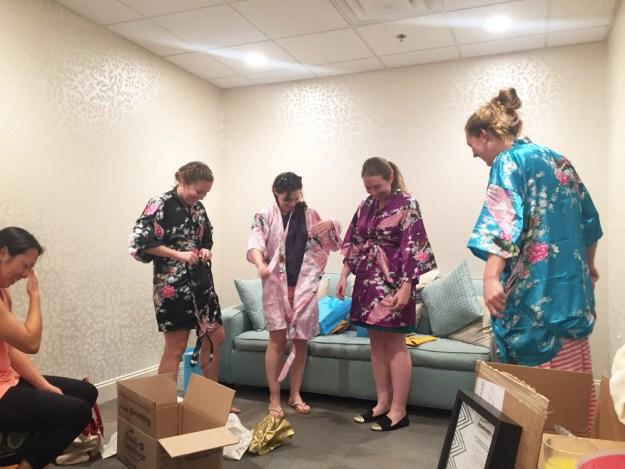 A Spa Day Bachelorette in North Carolina   Ultimate Bridesmaid   Monogrammed bridesmaid robes