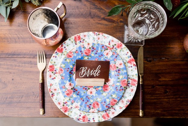 Bride table setting A Rustic Barn Bridal Shower in Oklahoma | Ultimate Bridesmaid | Alex Dugan Photography