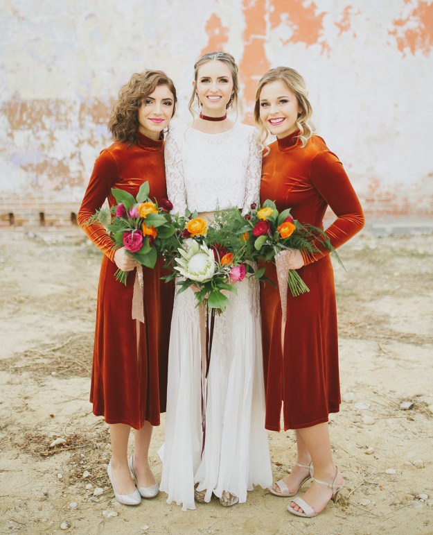 Velvet! The Best Bridesmaid Looks: Our 10 Favorite Bridesmaid Trends This Year