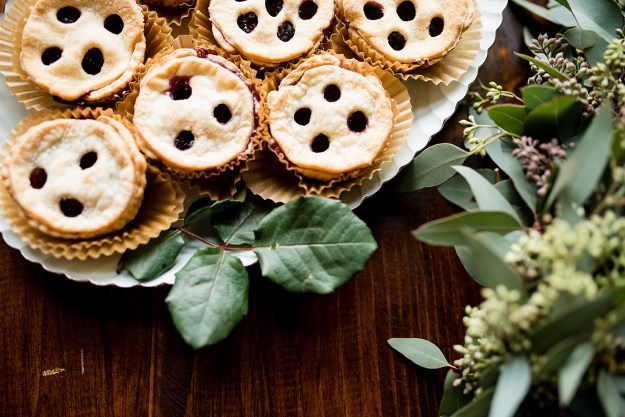 Mini blackberry pies. A Rustic Barn Bridal Shower in Oklahoma | Ultimate Bridesmaid | Alex Dugan Photography
