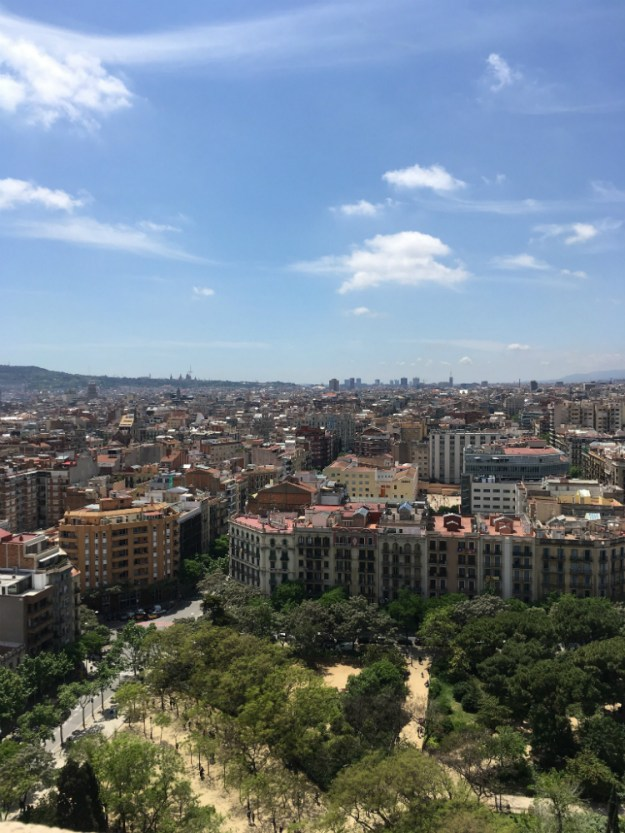The view from the Passion tower of La Sagrada Familia in Barcelona. We started our 10-day honeymoon in Spain with three days in Barcelona. Click for our full itinerary and recommendations!