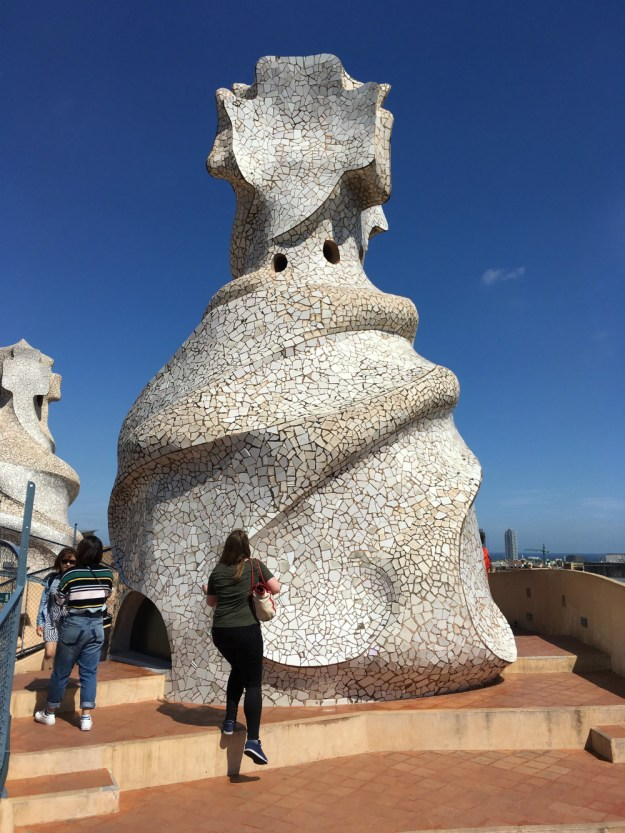 The rooftop of La Pedrera in Barcelona. We started our 10-day honeymoon in Spain with three days in Barcelona. Click for our full itinerary and recommendations!