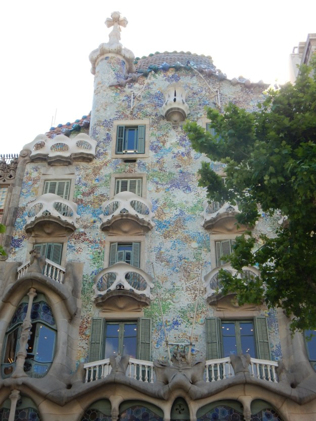 Casa Batllo in Barcelona. We started our 10-day honeymoon in Spain with three days in Barcelona. Click for our full itinerary and recommendations!