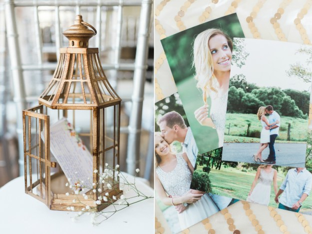 Birdhouse bridal shower decor. A Gold and Blush Bridal Shower | Ultimate Bridesmaid | Anne Molnar Photography
