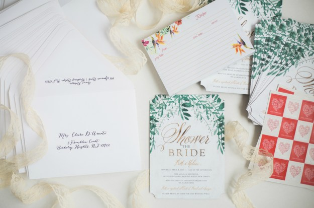 Bridal shower invitations. A Gold and Blush Bridal Shower | Ultimate Bridesmaid | Anne Molnar Photography