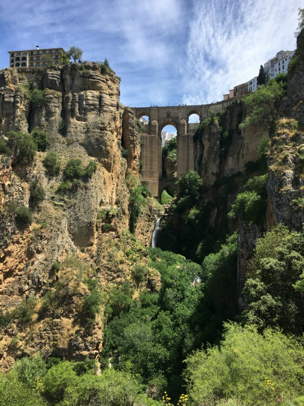 Puente Nuevo or New Bridge, Ronda, Spain. We visited Ronda for two days as part of our 10-day honeymoon in Spain. Click to see our Ronda travel guide, including where to stay, what to do and where to eat!