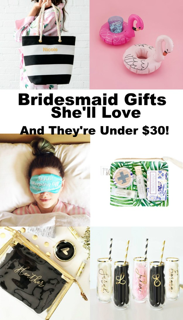 Bridesmaid Gifts Under $30 (That's She'll Totally Love Too)