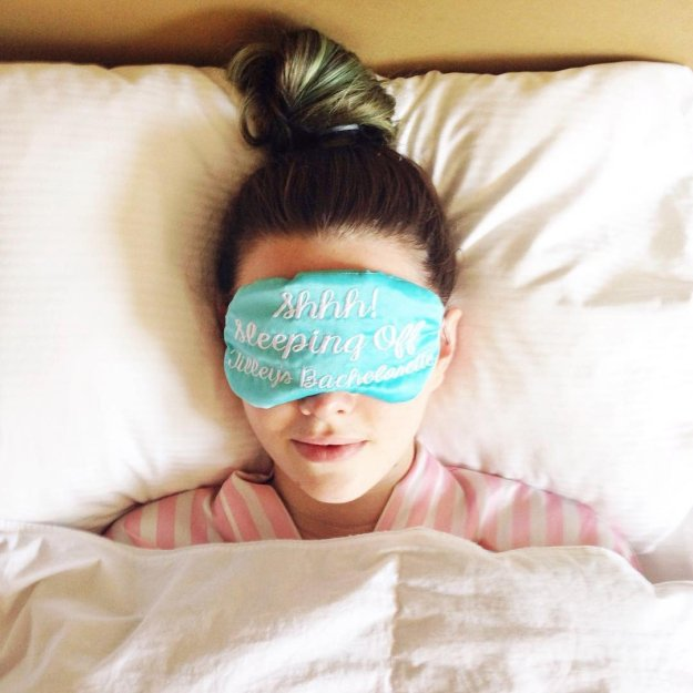 Bridesmaid Gifts Under $30: Personalized sleep masks perfect for a bachelorette party or bridal party gift