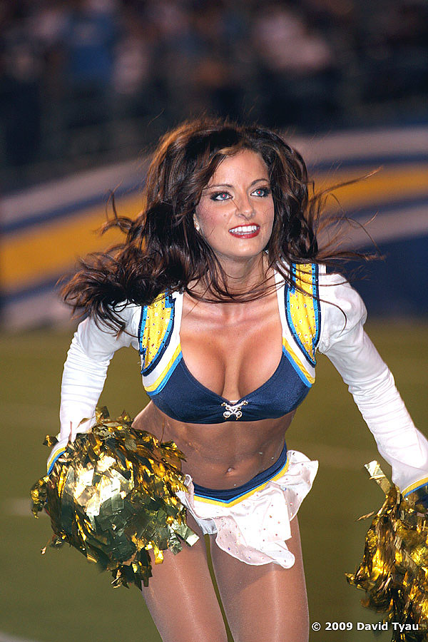 Rookie Charger Girl and former 49er Gold Rush Natalie