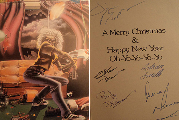 Vintage Iron Maiden Christmas Card Sells For Hundreds Of