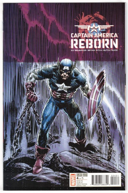Captain America Reborn #4 Joe Kubert Variant Marvel 2009 VF/NM