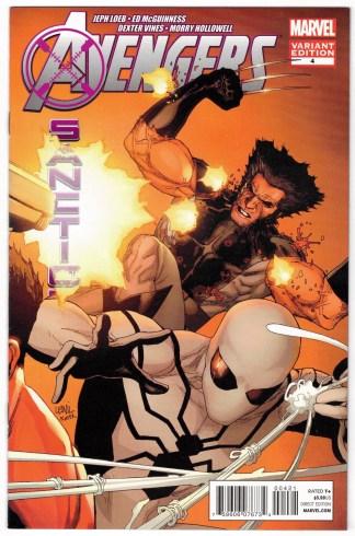 Avengers X-Sanction #4 1:25 Leinil Francis Yu Variant Marvel 2011 VF/NM