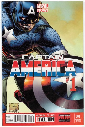 Captain America #1 1:100 Joe Quesada Color Variant Marvel Now 2013 VF/NM