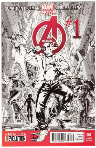 Avengers #1 Deadpool Style Sketch Party Variant Marvel NOW 2013 VF/NM