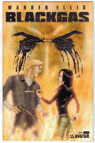 BlackGas #3 Platinum Foil Variant Ltd to 700 w/ COA! Avatar 2006 VF/NM