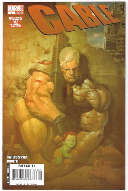 Cable #3 Ariel Olivetti Skrull Variant Secret Invasion Marvel 2008 VF/NM