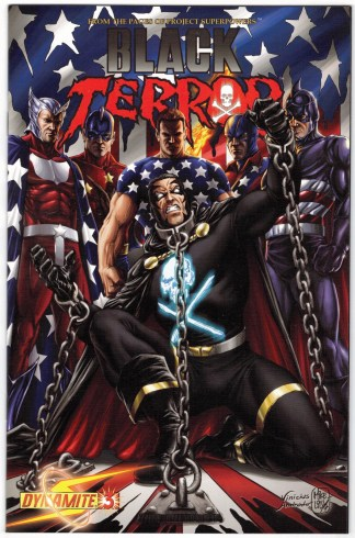 Black Terror #3 1:10 Mike Lilly Variant Project Superpowers 2008 VF/NM