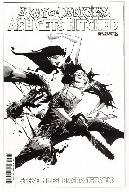Army of Darkness Ash Gets Hitched #2 1:10 Jae Lee B&W Variant 2014 VF/NM
