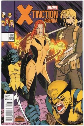 X-Tinction Agenda #2 1:25 Kris Anka Variant Marvel Secret Wars 2015 VF/NM