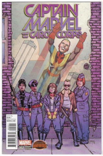 Captain Marvel and the Carol Corps #2 1:25 Jeanty Variant 2015 Secret Wars VF/NM