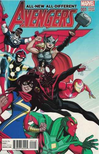 All-New All-Different Avengers #1 1:25 Vecchino Variant Marvel 2015 Ms Marvel
