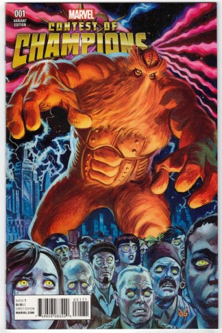 Contest of Champions #1 1:10 Brereton Kirby Monster Variant Marvel 2015 VF/NM