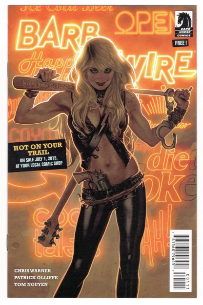 Barb Wire / King Tiger Ashcan Mini Comic Preview Dark Horse 2015 VF/NM