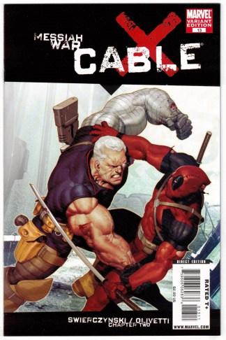 Cable #13 Ariel Olivetti Deadpool Variant Marvel 2008 VF/NM