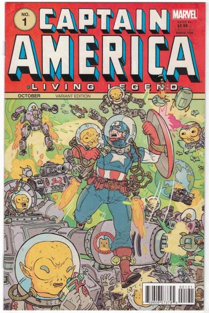 Captain America Living Legend #1 1:50 Farinas Vintage Variant Marvel 2013 VF/NM