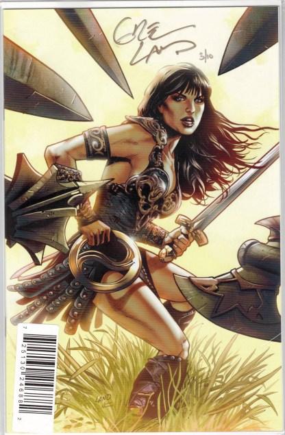 Xena Warrior Princess #1 Dynamic Forces Land Signed Variant LTD 10 W/COA VF