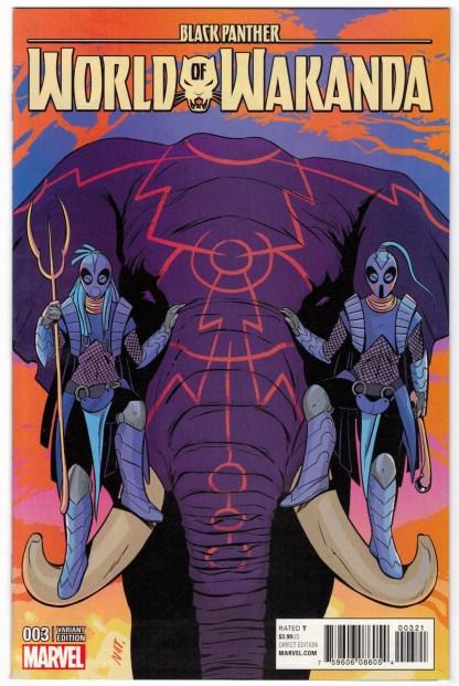 Black Panther World of Wakanda #3 1:50 Natacha Bustos Variant Marvel 2016 VF/NM