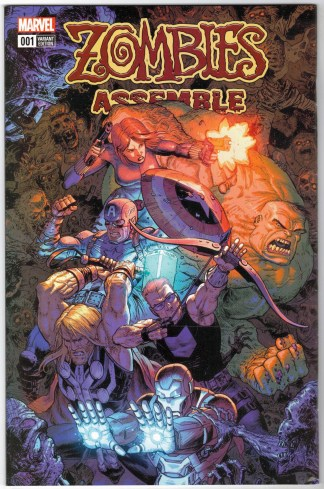 Zombies Assemble #1 1:50 Tony Moore Variant Marvel 2017 Komiyama & Zub VF/NM