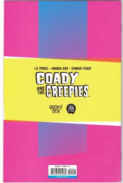 Coady and the Creepies #4 1:10 Liz Prince Virgin Variant Boom 2017 VF/NM