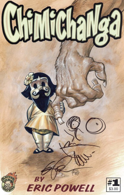 Chimichanga #1 Eric Powell Signed and Resketch Variant Albatross 2009