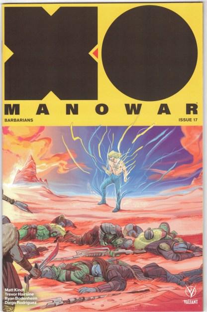 X-O Manowar #17 1:20 Fish Interlocking Variant Valiant 2017 Matt Kindt VF/NM